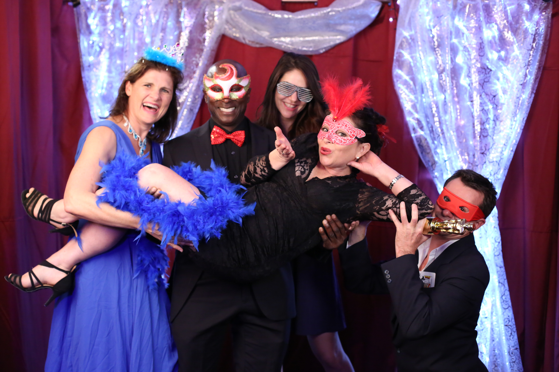 Photo booth action at the Rio Rhythmics Ball