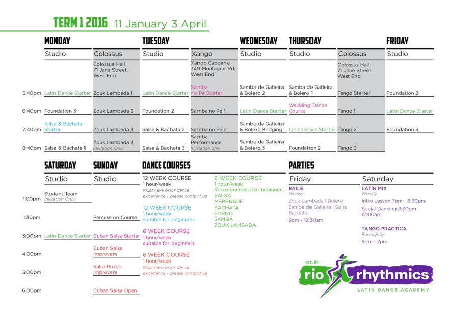 Term 1a A4 timetable PRINT