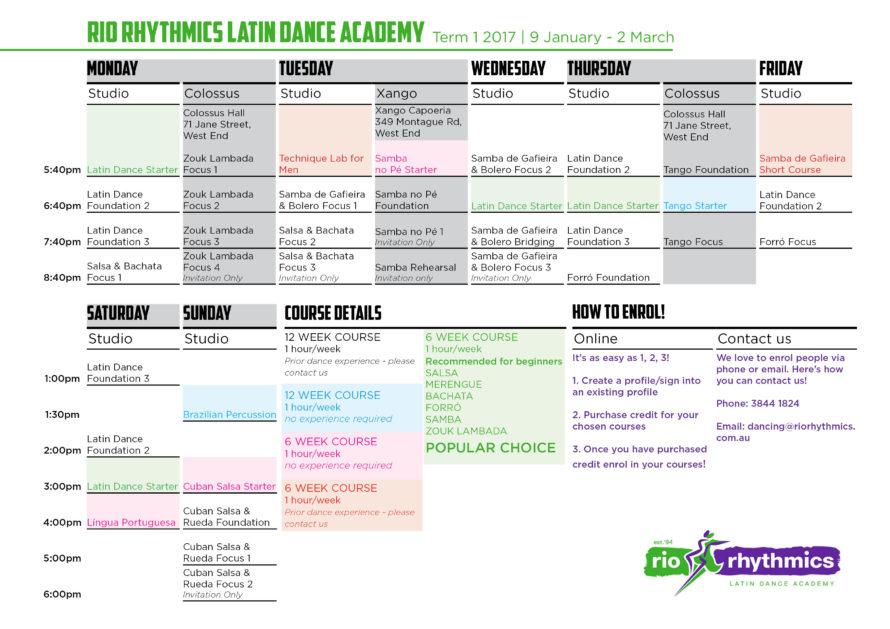 Term 1 2017 Timetable