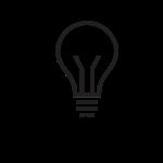 Head with lightbulb
