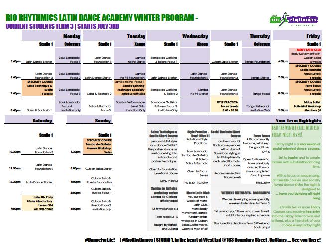 RRLDA Timetable T3A_member