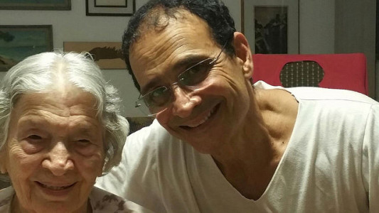 Tarcisio with Dona Nini on her 98th Bday